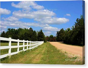 Never Ending White Fence Canvas Print