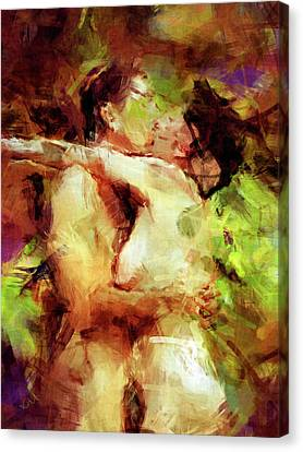 Passionate Lovers Canvas Print - Never Let Me Go by Kurt Van Wagner