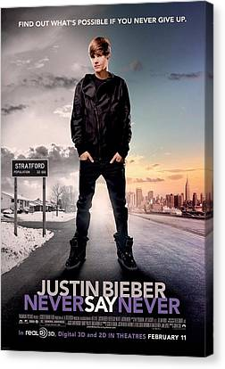Never Say Never 1 Canvas Print by Movie Poster Prints