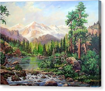 Never Summer Range Canvas Print by W  Scott Fenton