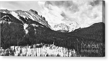 Never Summer Wilderness Area Panorama Bw Canvas Print by James BO  Insogna