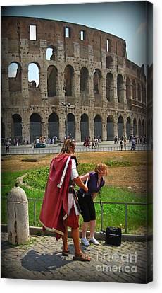 Never Trust A Gladiator Canvas Print