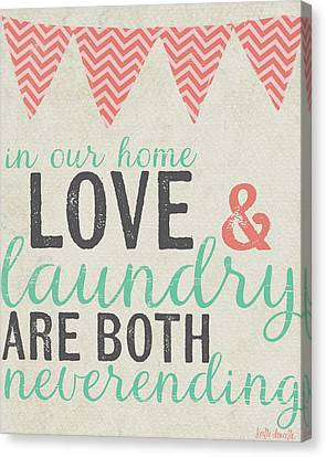 Neverending Laundry Canvas Print by Katie Doucette