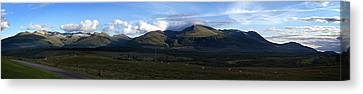 Canvas Print featuring the photograph Nevis Range by Bud Simpson