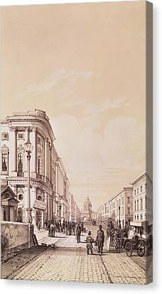 Suisse Canvas Print - Nevsky Prospekt, St. Petersburg, Illustration From Voyage Pittoresque En Russie, 1843 Engraving by Andre Durand