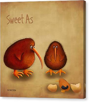 New Arrival. Kiwi Bird - Sweet As - Boy Canvas Print by Marlene Watson