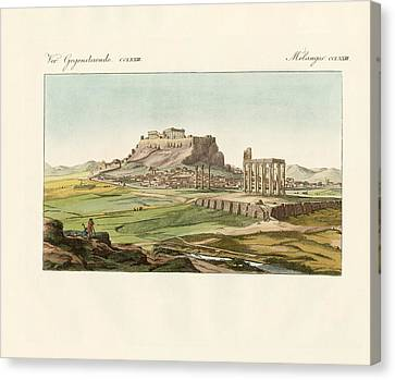 New Athens On The Ashes Of The Old One Canvas Print by Splendid Art Prints