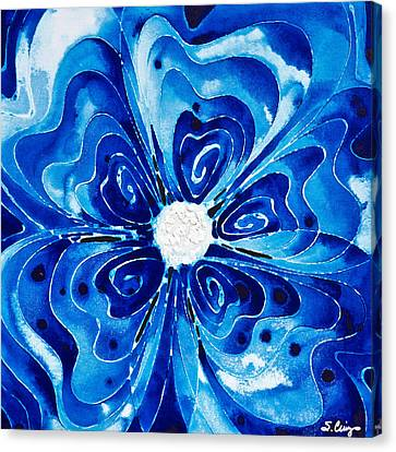 New Blue Glory Flower Art - Buy Prints Canvas Print by Sharon Cummings