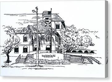 New Boca Raton City Hall Canvas Print by Robert Birkenes