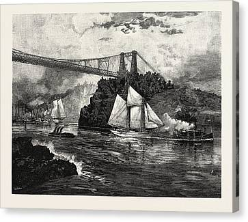 New Brunswick, Suspension Bridge Canvas Print by Canadian School
