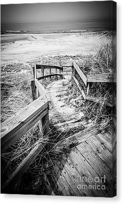 New Buffalo Michigan Boardwalk And Beach Canvas Print by Paul Velgos