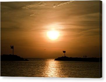 New Buffalo Sunset Canvas Print by John Crothers