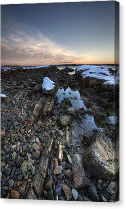 New Castle Dawn Canvas Print by Eric Gendron