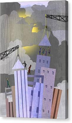 Reviving Canvas Print - New City by Steve Dininno