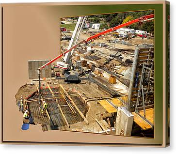 New Commercial Construction Site 02 Canvas Print by Thomas Woolworth