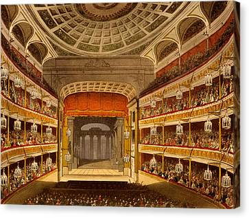 New Covent Garden Theatre Canvas Print by T. & Pugin, A.C. Rowlandson
