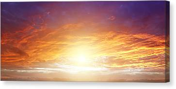 New Dawn Canvas Print by Les Cunliffe