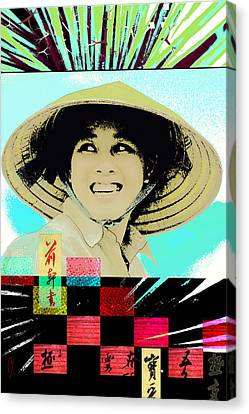 Chinese Peasant Canvas Print - New Dawn by Maria Jesus Hernandez