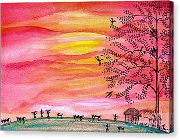 New Day Canvas Print by Anjali Vaidya