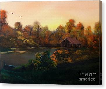 New Day In Autumn Sold Canvas Print by Cynthia Adams