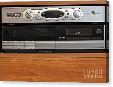 New Dvr With Old Vcr Canvas Print by Lee Serenethos