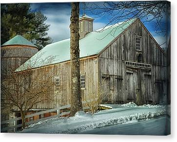 New England Barn Canvas Print by Tricia Marchlik