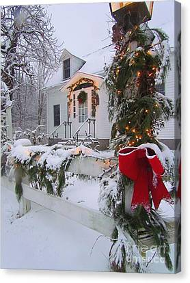 New England Christmas Canvas Print
