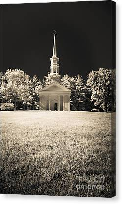 New England Classic Church Infrared Canvas Print by Edward Fielding
