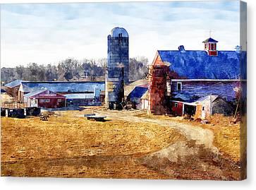 New England Farm 2 Canvas Print by Rick Mosher