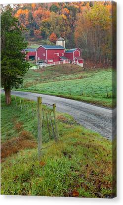 Old Barns Canvas Print - New England Farm by Bill Wakeley