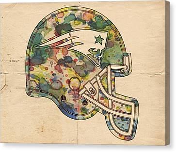 New England Patriots Helmet Art Canvas Print by Florian Rodarte