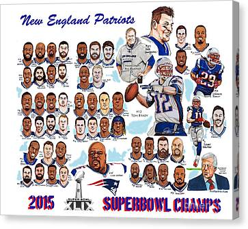New England Patriots Superbowl Champions Canvas Print by Dave Olsen