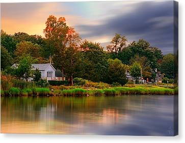 New England Setting Canvas Print by Lourry Legarde