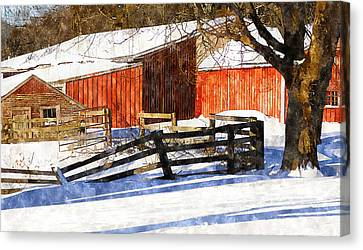 New England Snow Canvas Print