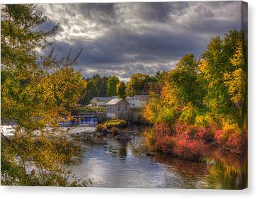 New England Town In Autumn Canvas Print