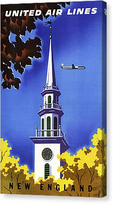 New England United Air Lines Canvas Print by Mark Rogan