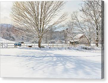 New England Winter Canvas Print by Bill Wakeley