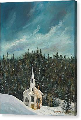 New England Winter Canvas Print by Michael Shegrud