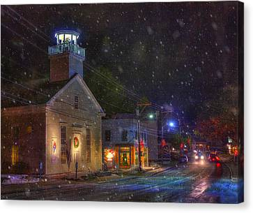 New England Winter - Stowe Vermont Canvas Print by Joann Vitali