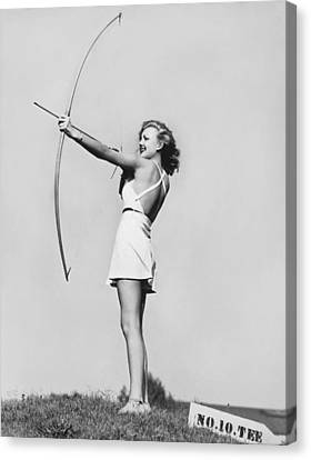 New Fad Archery Golf Canvas Print by Underwood Archives