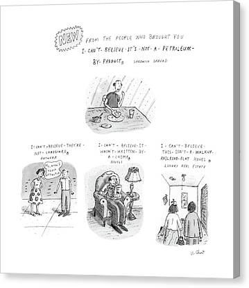 Cardboard Canvas Print - New From The People Who Brought by Roz Chast