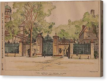 New Gateway For Harvard College Canvas Print by McKim Mead and White Architects