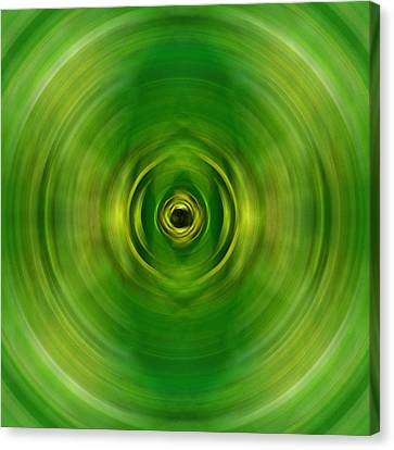 New Growth - Green Art By Sharon Cummings Canvas Print