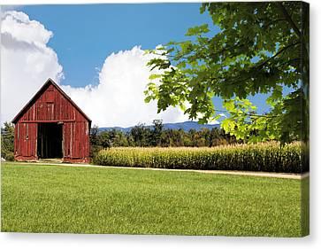 New Hampshire Barnyard Canvas Print by Fred Larson