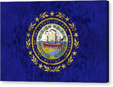 New Hampshire Flag Canvas Print by World Art Prints And Designs