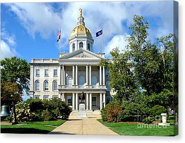 New Hampshire State Capitol Canvas Print