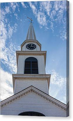 New Hampshire Steeple Detailed View Canvas Print by Karen Stephenson
