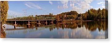 New Hope-lambertville Bridge, Delaware Canvas Print by Panoramic Images