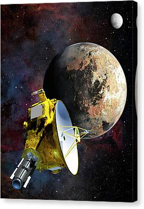 New Horizons At Pluto Canvas Print by Nasa/johns Hopkins University Applied Physics Laboratory/southwest Research Institute