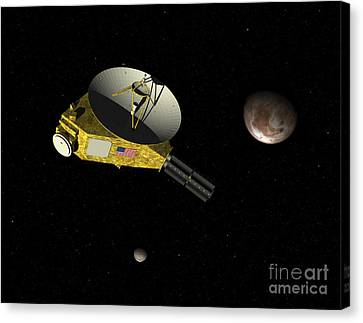 New Horizons Spacecraft Approaches Canvas Print